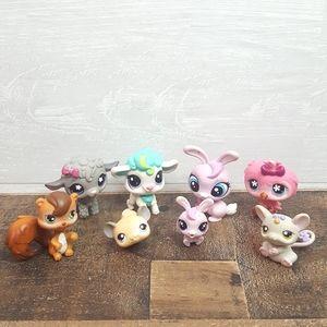 Littlest Pet Shop LPS Toy Lot Of 8 Animals